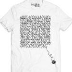 digital knitting-men's white t-shirt