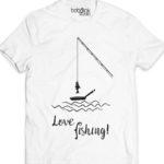 love fishing men's white t-shirt