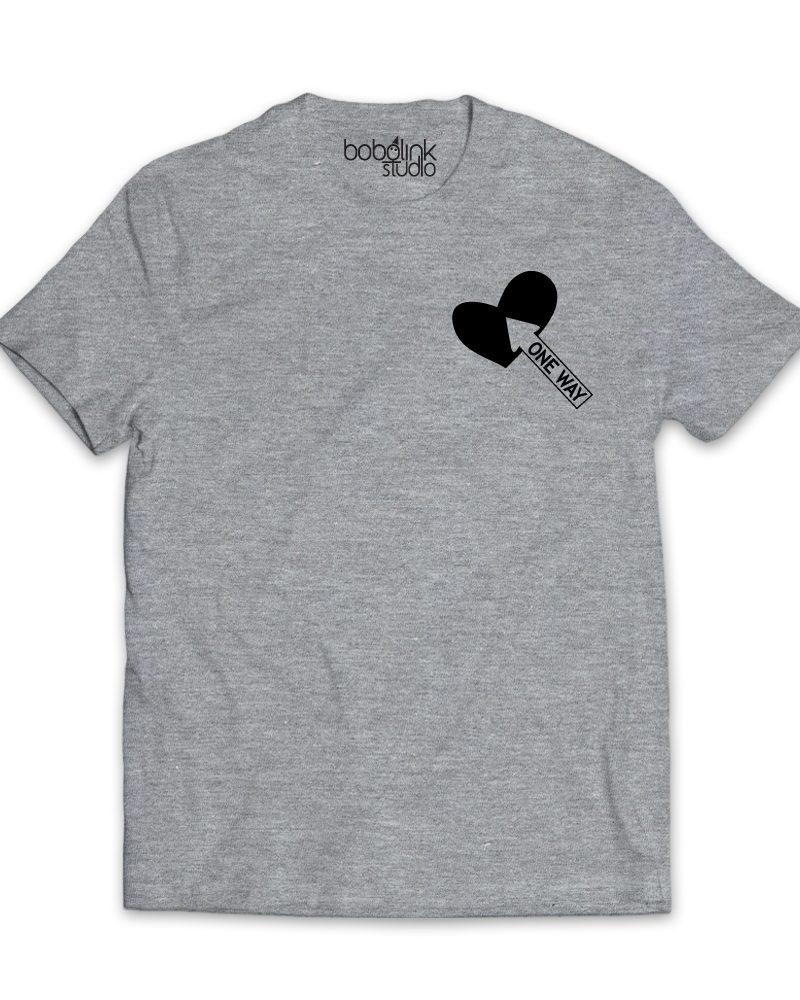 one way arrow men's grey t-shirt