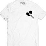 one way arrow white men's  t-shirt