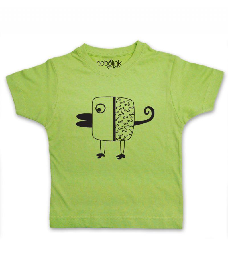 bird kid's green t-shirt