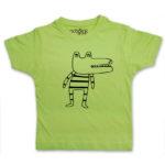 crocodile kid's green t-shirt