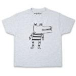 crocodile kid's ash t-shirt