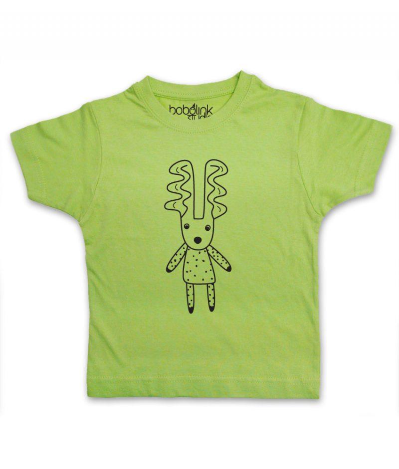 deer kids green t-shirt