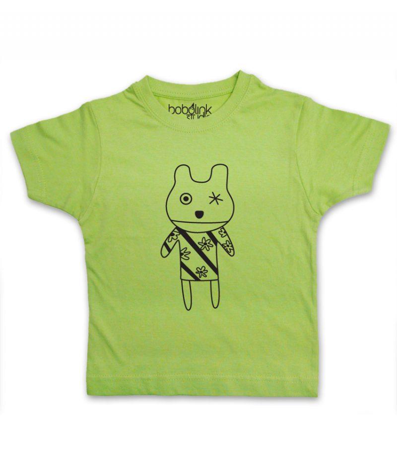 one eye toy kids green t-shirt