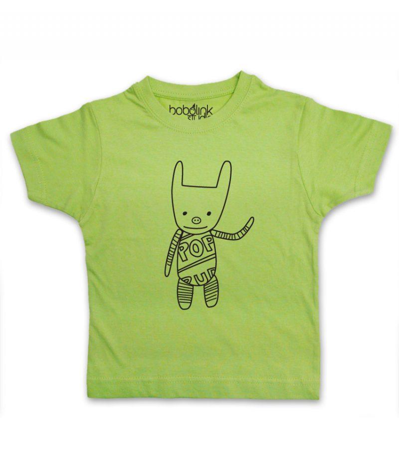 plush toy kids green t-shirt