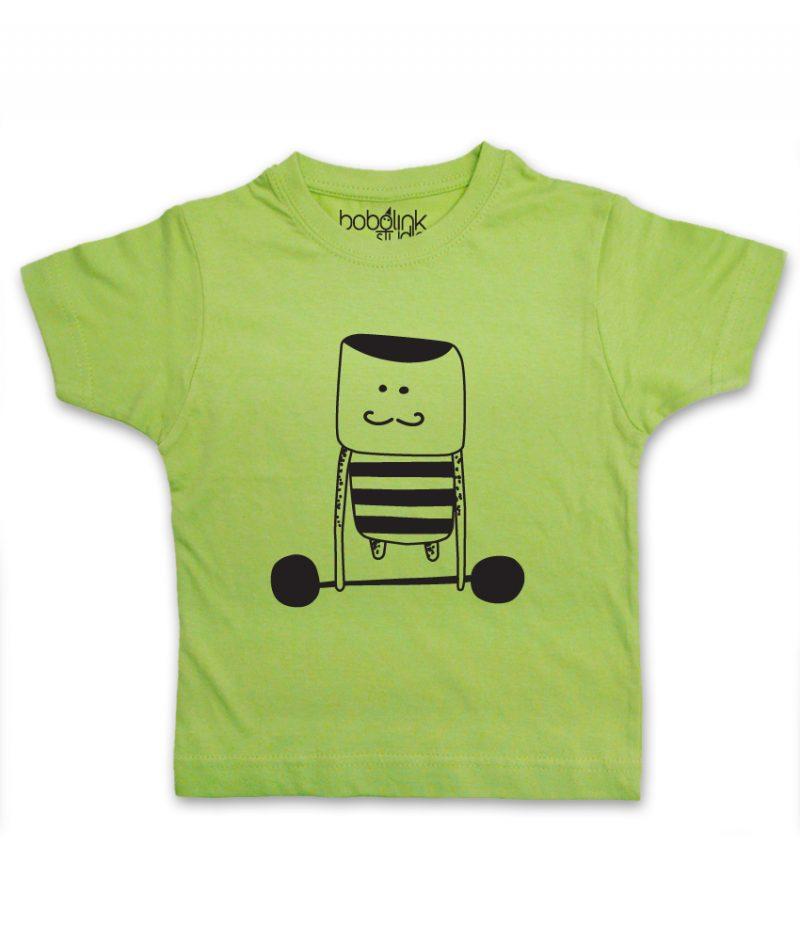 weight lifter kid's green t-shirt