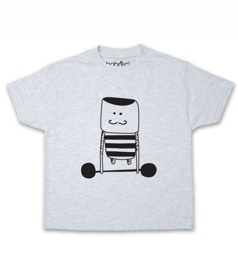 weight lifter kid's ash t-shirt
