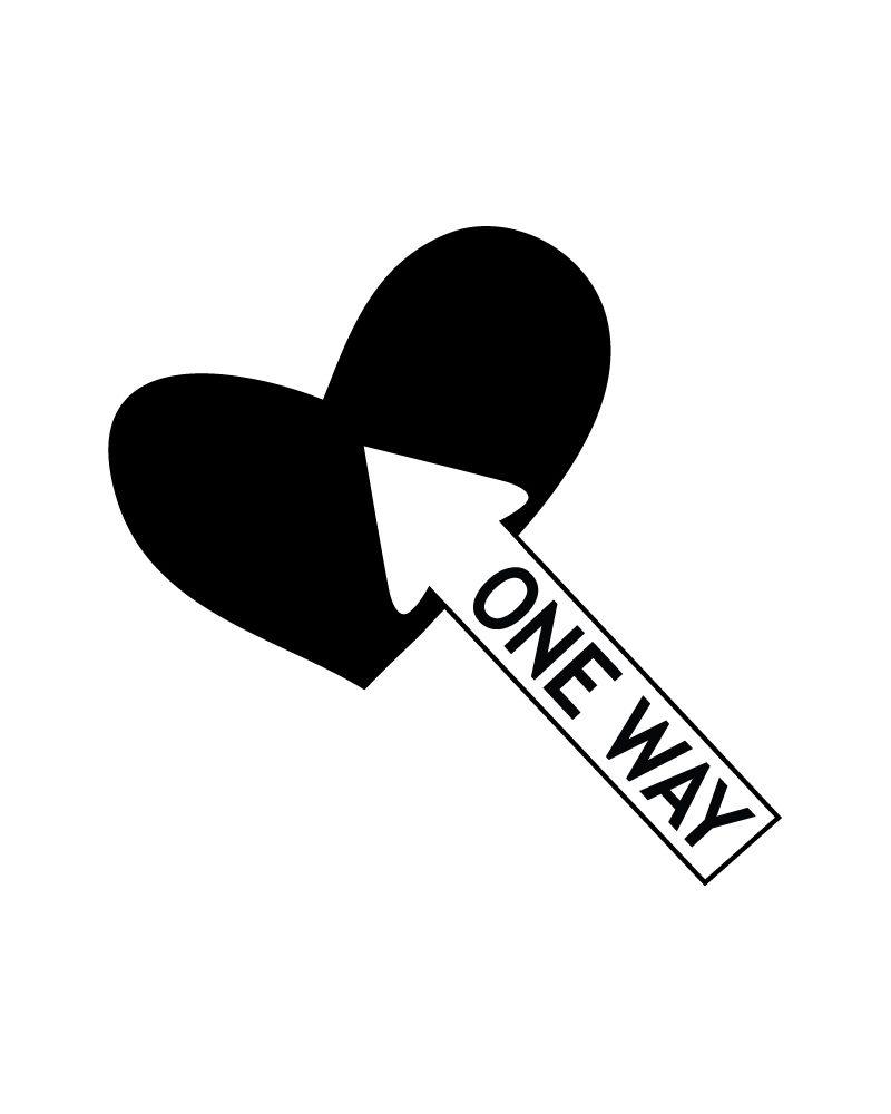 one way arrow-close up