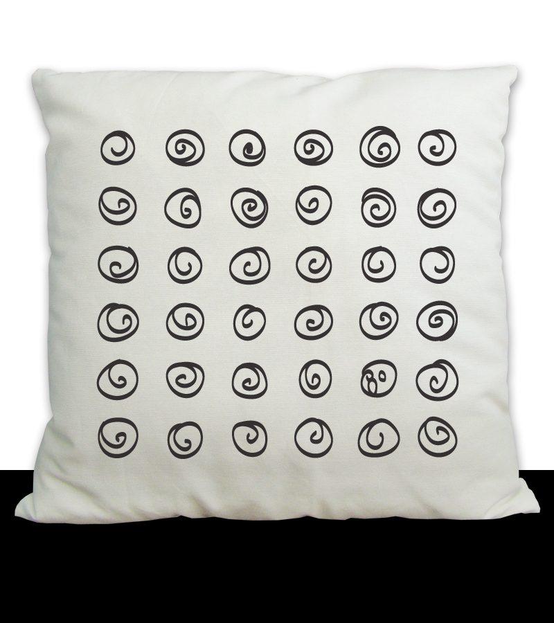 spirals pillow cover