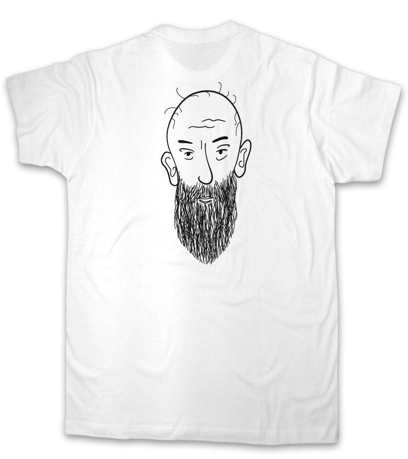 men with beard-white mens t-shirt